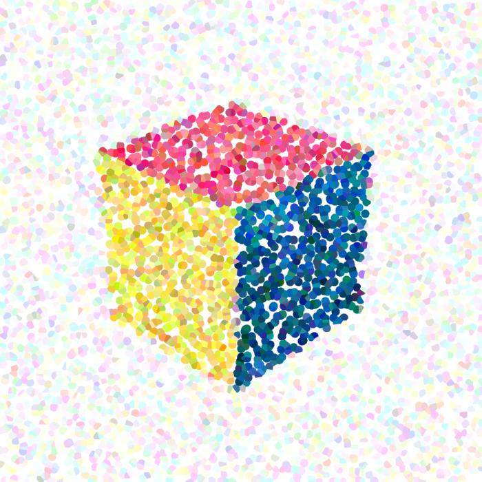 Cube multicolore