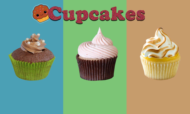 Trois cupcakes
