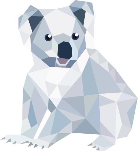 Koala polygonal par Manon