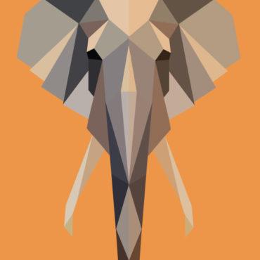 Éléphant polygonal par Océane