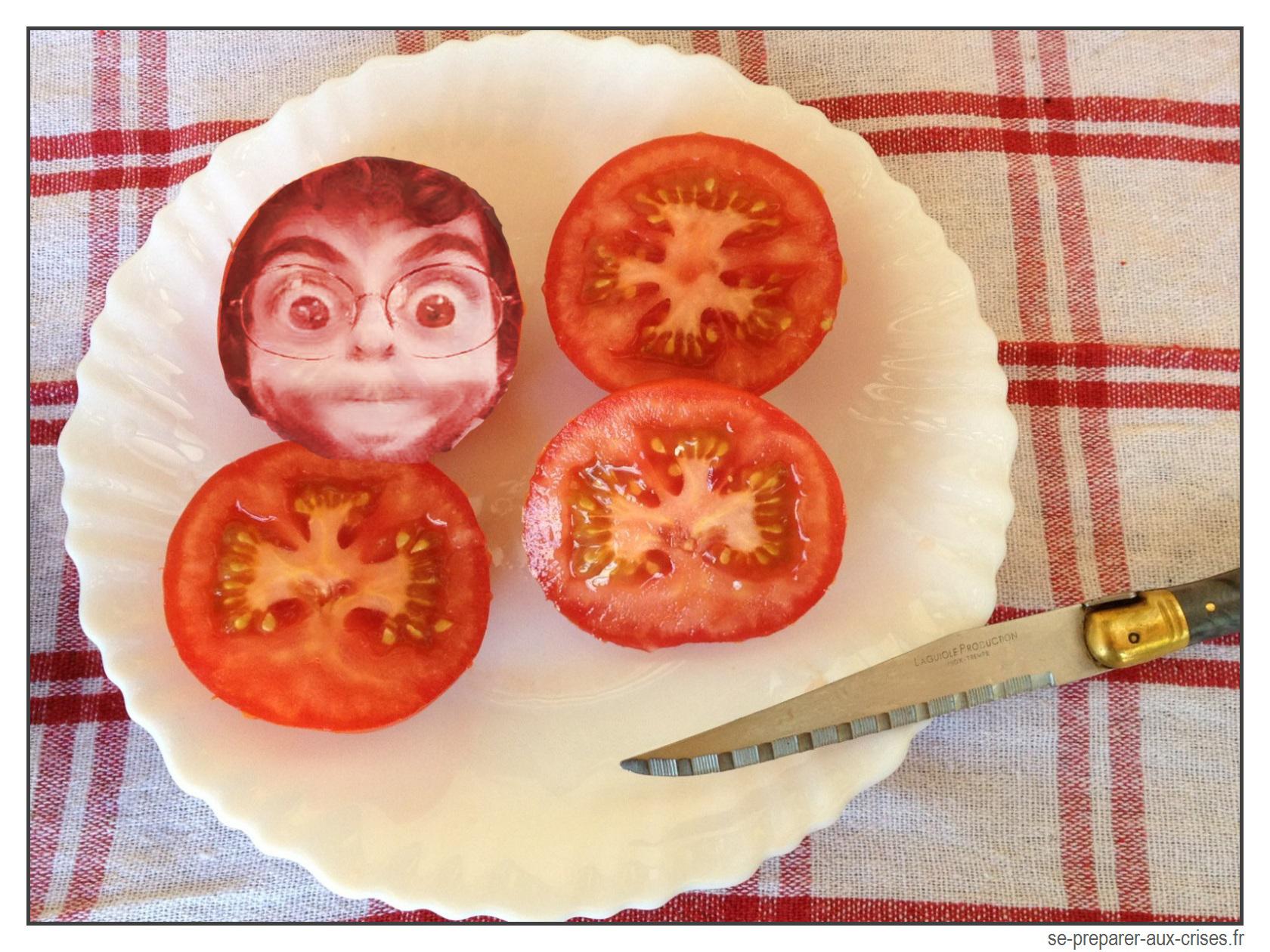 Tomates avec visage de Pierre